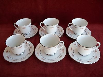 Noritake  Glenaire # 2060   ( Setting Of 6 Cups & Saucers )
