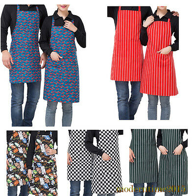 1pc Stripe Anti-oil Delantal Cocina Chef Waiters Aprons Kitchen Apron Men Women