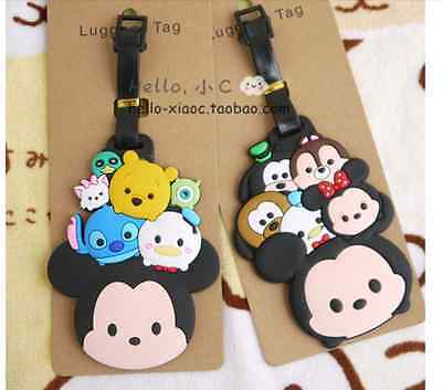 Tsum tsum Luggage Tag Suitcase Name and address Mickey holiday travel bag tag