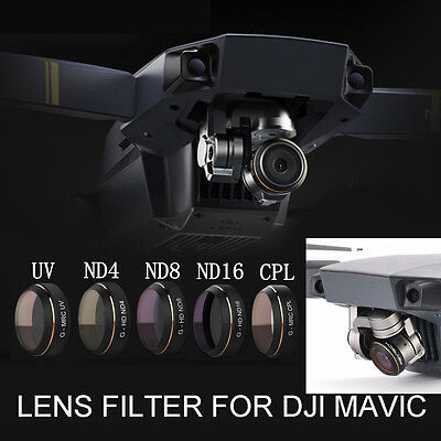 For DJI Mavic PRO Drone PGY G-UV ND4 ND8 ND16 CPL HD Lens Filter  Quadcopter