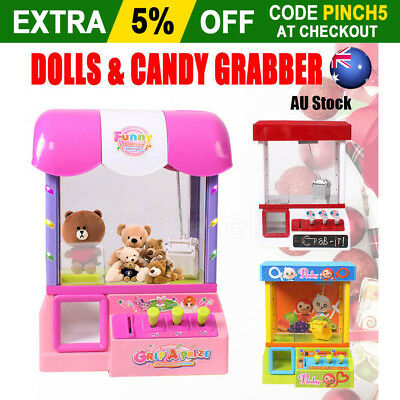 Carnival Style Vending Arcade Claw Candy&doll Grabber Joystick Prize Machine Toy