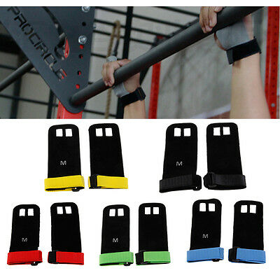 S/M/LGrips Crossfit Gymnastics Hand Grip Guard Palm Protectors Glove Durable