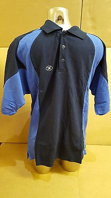 Clearance Line New Gilbert Rugby Polo Shirt Leisurewear- Navy Royal- Medium