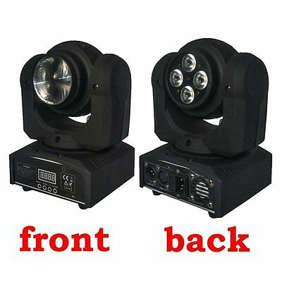 Eyourlife 4x10w + Double Face 1x10W LED a testa mobile luce RGBW 4in1 DMX512