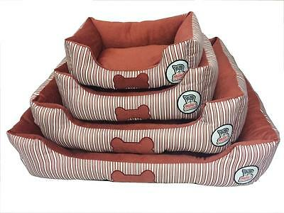 Luxury Red Pet Dog Puppy Cat Bed Cushion Soft Warm Basket Comfy, S,m,l, Xl
