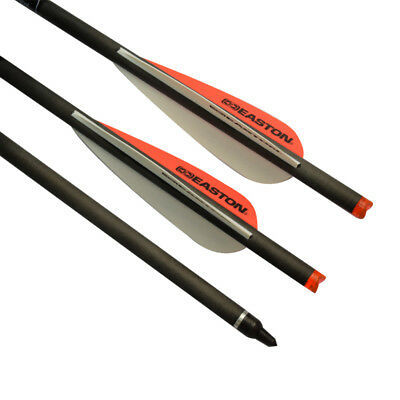 """20"""" Carbon Crossbow Bolts Easton Vanes Archery Arrows w/ Hunting Field Points"""