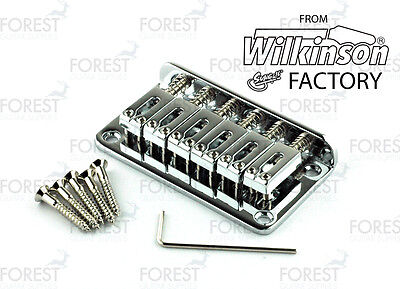 BN-007, Hardtail Fixed style bridge for Telecaster® Stratocaster® guitar, chrome