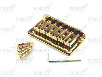 BN-007, Hardtail Fixed style bridge for Telecaster® Stratocaster® guitar, gold