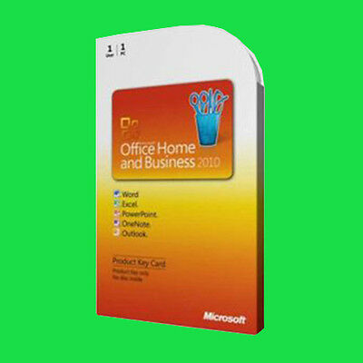 """Microsoft Office Home and Business 2010 codice """" Product Key """" italiano"""