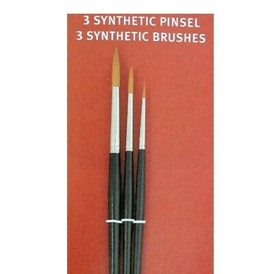Synthetic Pinselset 3 Rundpinsel