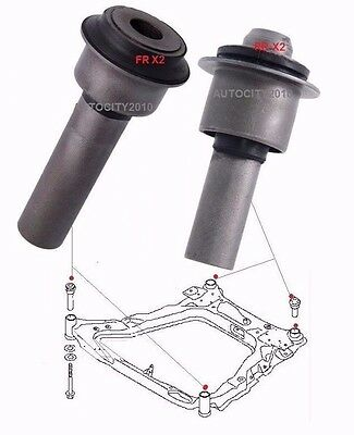 For Nissan X-Trail T31 4Pc Front Sub Frame Front/rear Body Bush Set 2007-13
