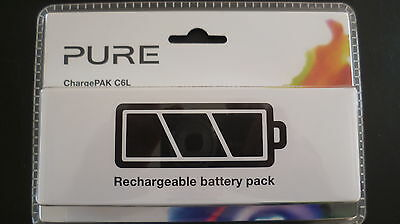 Pure C6L Rechargeable Chargepak Battery Fits One Classic & Elite Radio Vl-61950