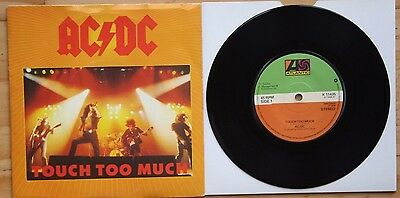 "MINT! AC/DC TOUCH TOO MUCH / LIVE WIRE + SHOT DOWN IN FLAMES LIVE 7"" vinyl 45"