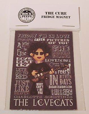 Inspired by the Cure Robert Smith Fridge Magnet