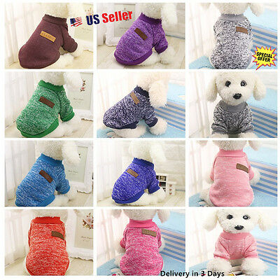 Pet Coat Dog Jacket Winter Clothes Puppy Cat Sweater  Clothing Apparel 10 Colors