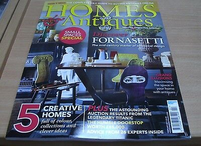 Homes & Antiques magazine Feb 2017 Discover Fornasetti + Small spaces special