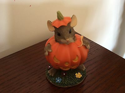 Charming Tails Maxines Pumpkin Costume Collectible 87/430 Fitz & Floyd Halloween