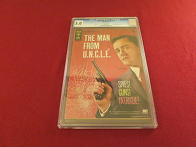 """1965 1st Issue """" MAN FROM UNCLE """" RARE CGC GRADED GOLD KEY ORIGINAL COMIC BOOK"""