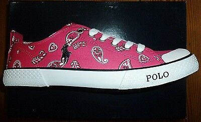 a few days away for whole family new products POLO RALPH LAUREN Trainers Canvas Shoes Pink Carlisle Womens ...