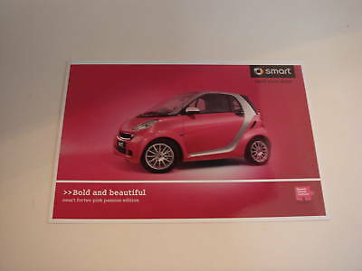 Smart . fortwo . pink passion edition . 2010 Sales Leaflet