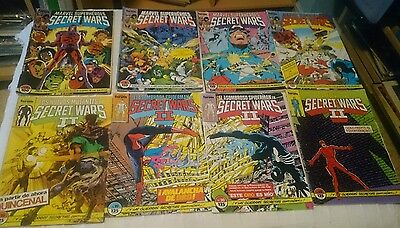 SECRET WARS  I & II LOTE 23 COMICS FORUM COMIC MARVEL SPIDERMAN HULK CAPITAN ETc