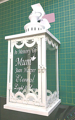 Beautiful Personalised Large Memorial Candle  Lantern Grave Memorial