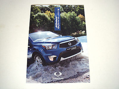 SsangYong . Korando Sports . Sales Brochure