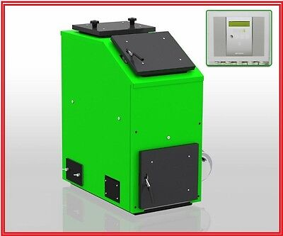 SOLID FUEL BOILER Multi Fuel Large Chamber 25Kw Coal Wood Turf Central Heating