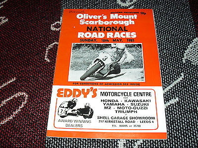 1981 Olivers Mount Motor Cycle Programme 10/5/81 - National Road Races