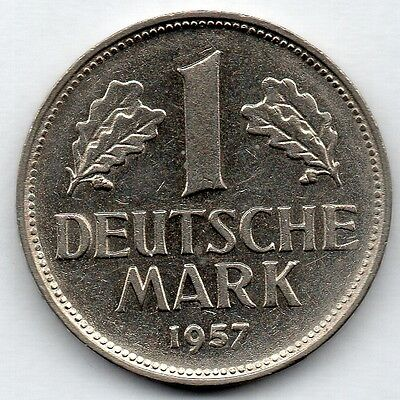Germany 1 Mark 1957 G Coin