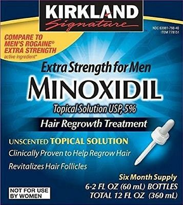6 months supply Kirkland Minoxidil 5% Extra Strength Men Hair Regrowth Solution