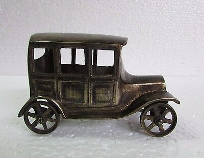 Vintage Collectible Hand Crafted Brass Ford Model / Car Model Toy