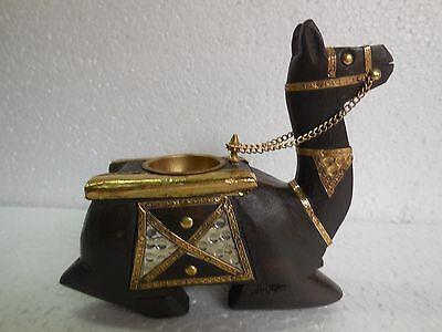 Vintage Style Handcrafted Brass Metal Fitted Camel Tea Light Candle Holder Rare