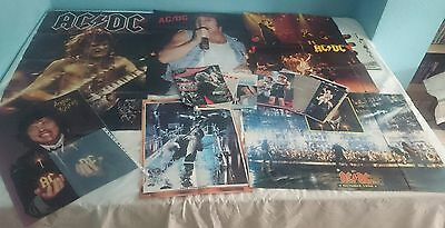AC DC AC/DC LOT 6 POSTER + 42 CLIPPINGS MAGAZINE + 8 CUTTINGS very rare COLLECT