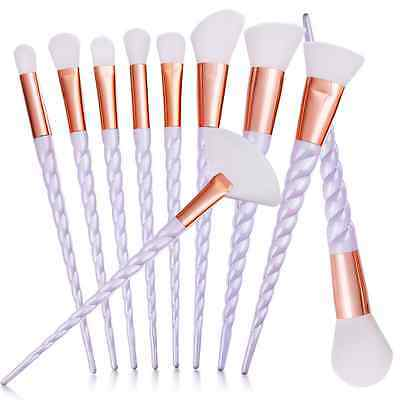 10Pcs Kabuki Makeup Brushes Set Foundation Powder Eyeshadow Eyeliner Lip Brush