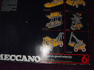 Meccano New 1970's Construction set 6 in two layers with instructions