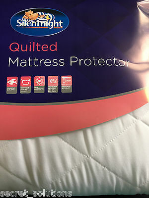 NEW Silentnight Quilted Mattress Protector Non-Allergenic King Size Fast Post