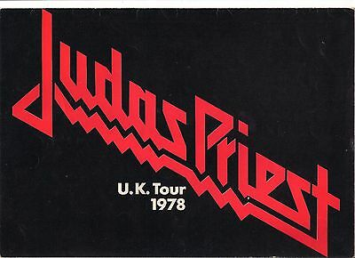 Judas Priest 1978 Tour Programme Stained Class in EX Condition
