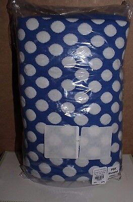 NWT Pottery Barn Kids Dot Repeat Jacquard baby stroller blanket nautical blue