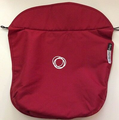 NWOT Bugaboo Frog Stroller Bassinet Apron Red Canvas Fabric Cover Baby