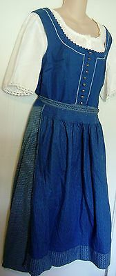 Original Distler Trachten Dirndl Bavarian Octoberfest Dress Small Vtg Costume