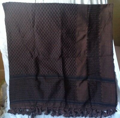 Authentic Palestinian Original Brown Hirbawi Keffieh Kufiyah Shemagh Scarf