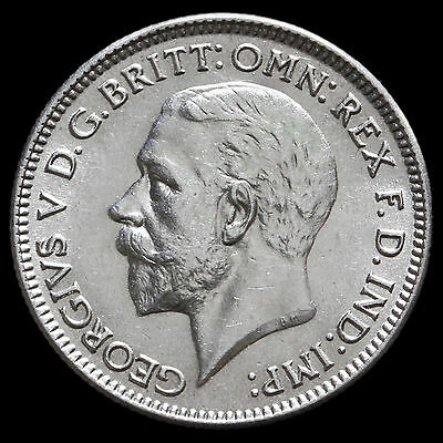 1935 George V Silver Sixpence – A/UNC