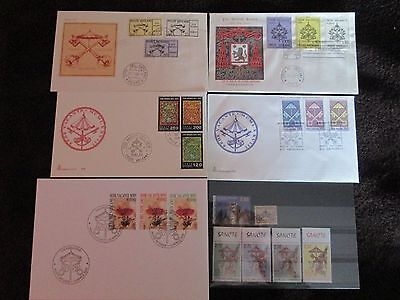 5 FDC 1er jour 1st day covers Sede Vacante Vatican +6 timbres stamps 1939 à 2013