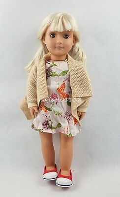18'' BATTAT Our Generation American Girl Doll Brown Eyes With Clothes Gifts #36