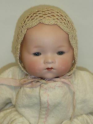 "Antique German Bisque AM Dream Baby #341.12, Blue Sleep Eyes, 9"" Circ. Head"