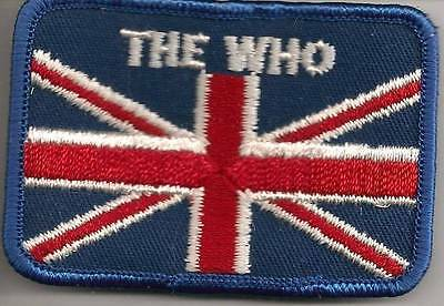 The Who on British Flag Fully Embroidered Vintage Patch from the 70's