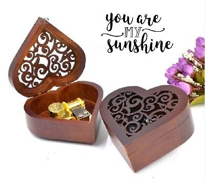Heart Wood Gold Wind Up Music Box : YOU ARE MY SUNSHINE SOUNDTRACK