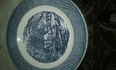 currier and ives 12 pc  set (bowls, saucers, and dinner plates)