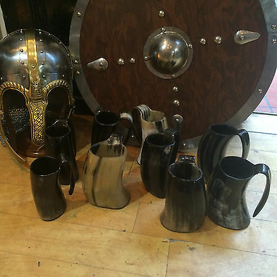 Genuine Cow Horn Viking (or Game of Thrones style) Horn Tankard / Mug